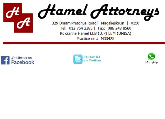 Hamel Attorneys (Magalieskruin, Pretoria) Attorneys / Lawyers / law firms in  (South Africa)