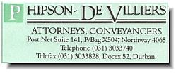 Phipson-DeVilliers (Durban) Attorneys / Lawyers / law firms in Durban (South Africa)