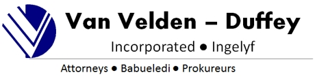 Van Velden-Duffey Inc (Rustenburg) Attorneys / Lawyers / law firms in  (South Africa)
