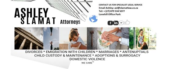 Ashley Slamat Attorneys (Lonehill Fourways Midrand) Attorneys / Lawyers / law firms in  (South Africa)
