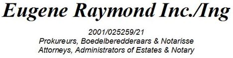 Eugene Raymond Inc (Port Elizabeth) Attorneys / Lawyers / law firms in  (South Africa)
