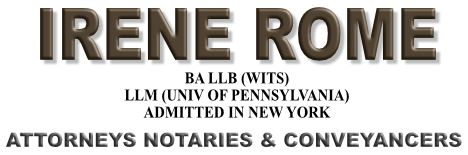 Irene Rome (Johannesburg, Norwood) Attorneys / Lawyers / law firms in  (South Africa)