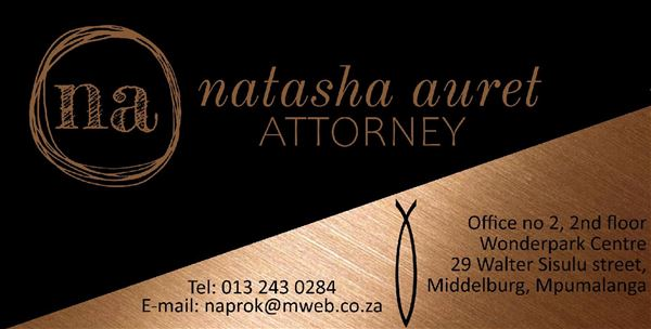 Natasha Auret Attorney (Middelburg) Attorneys / Lawyers / law firms in  (South Africa)
